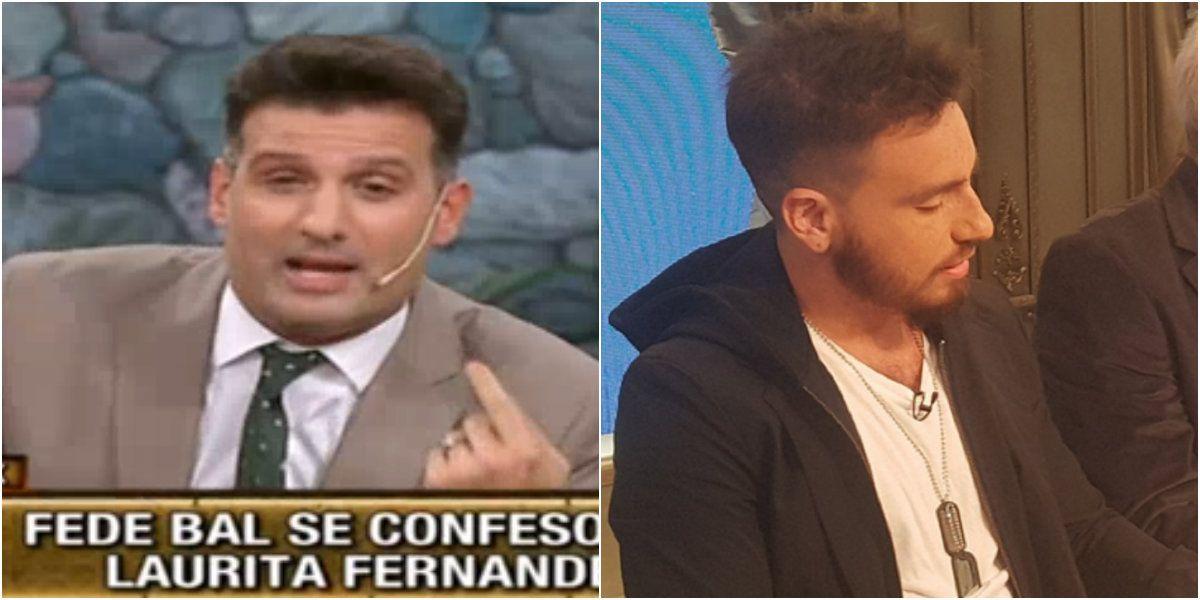 El fuerte descargo José María Listorti contra Fede Bal por no dar notas: Toda la televisión decía que había que rajarlo por violento