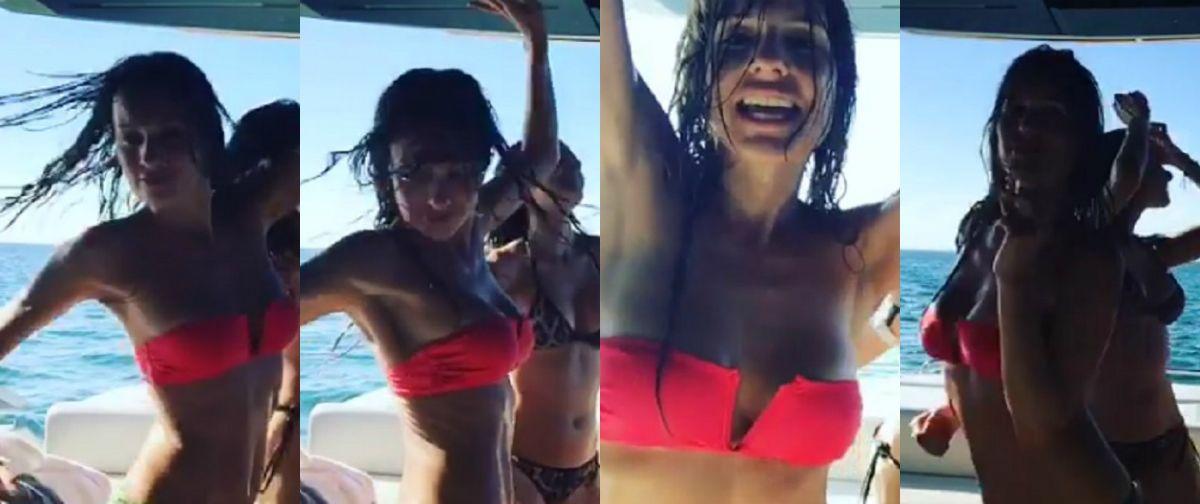 El baile sensual de Pampita y sus amigas, de fiesta en un barco en Miami