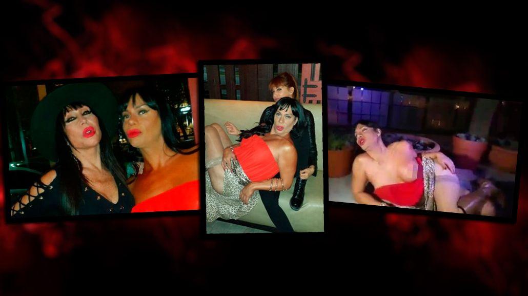 Oriana Junco hizo un striptease en el cumpleaños de Moria Casán