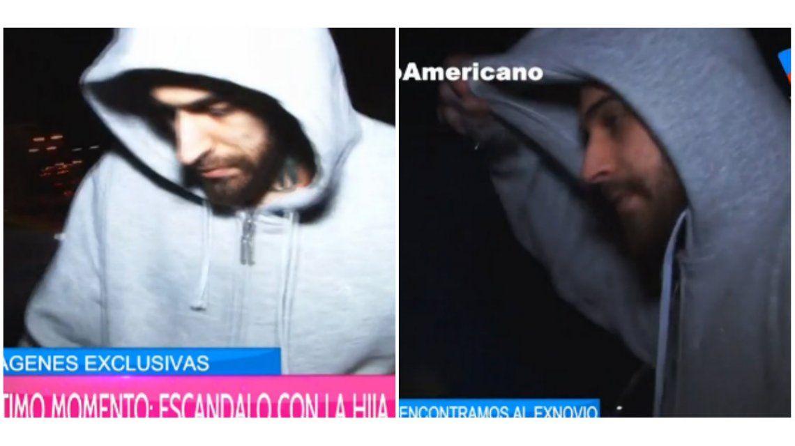 Tras la pelea, el ex novio de Cande Tinelli fue entrevistado en la calle y así reaccionó