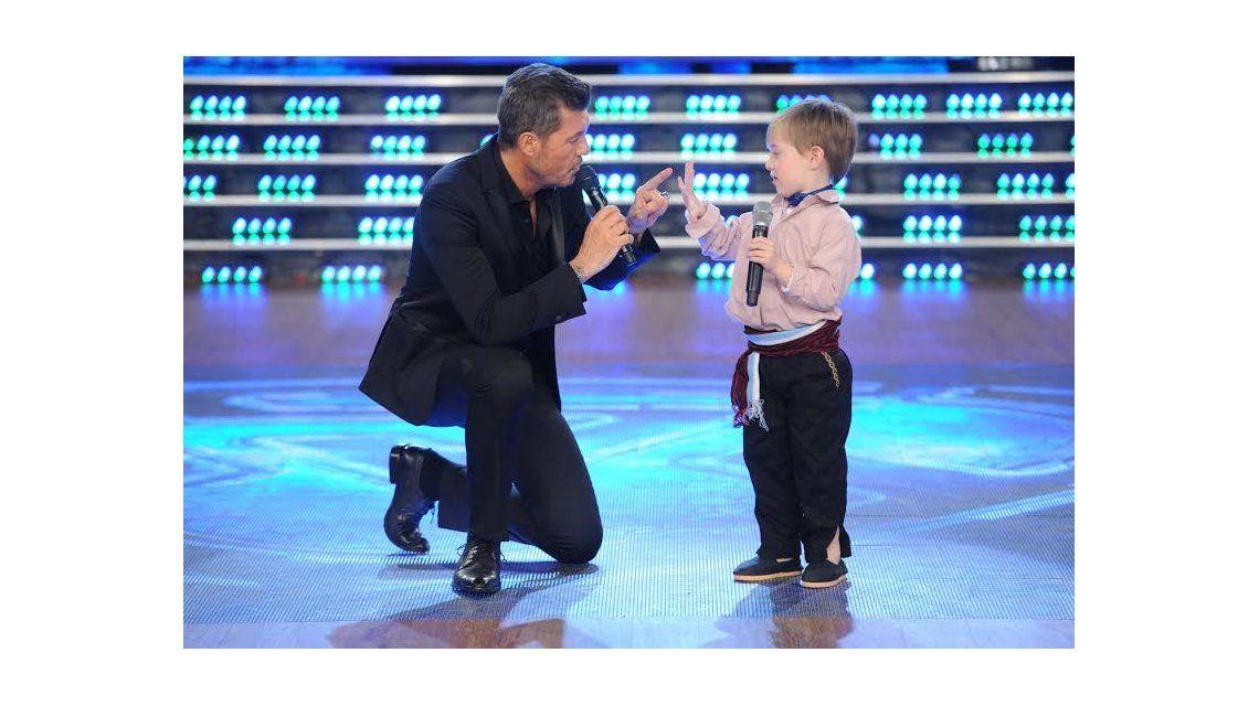 Mateo, el nene de cinco años que conquistó a Marcelo Tinelli con su ternura