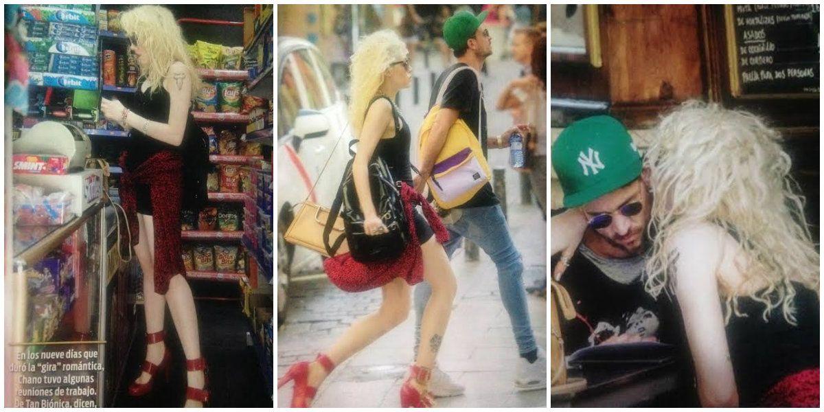 Chano Charpentier y Militta Bora, ¡nunca desapercibidos! Mirá el llamativo look de la cantante para pasear por Madrid
