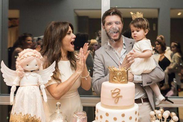 María Fernanda Callejón celebró el bautismo y el primer año de su hija Giovanna: Te tengo hasta el infinito