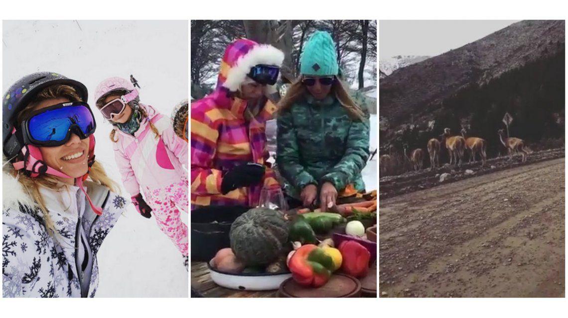 Nicole Neumann, una modelo todo terreno en la Cordillera: esquí, cocina ¡y aventura en cuatriciclo!