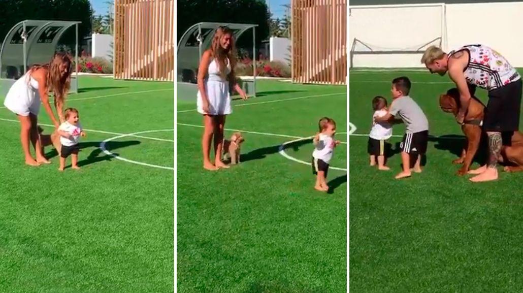 Mateo, el hijo de Lionel Messi, empezó a caminar: Primeros pasos de Matu