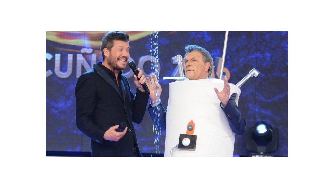 Freddy Villarreal volvió a parodiar a Macri: presentó un termotanque humano