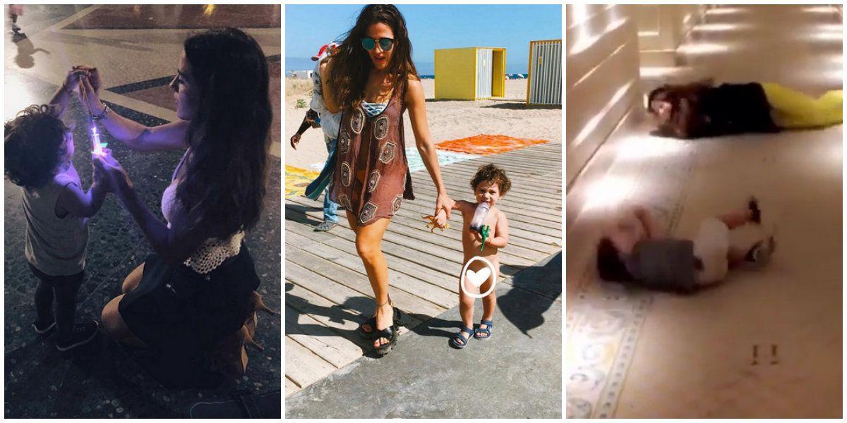 Jimena Barón, divertida en Barcelona con Momo: ¡mirá los alocados videos de su viaje!