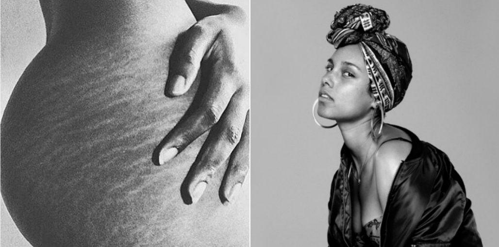 Alicia Keys mostró una impactante foto de sus estrías en las redes: Amo esto