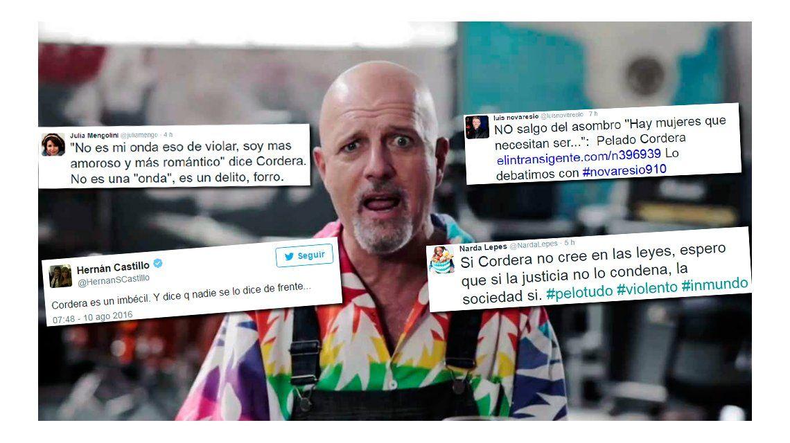 El repudio de los famosos en las redes a los dichos de Gustavo Cordera