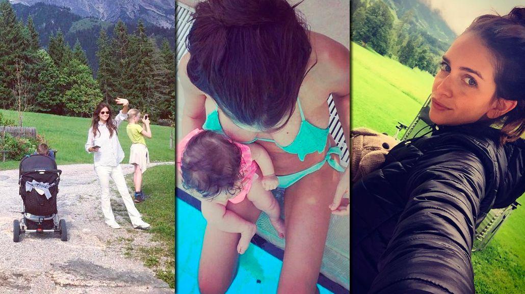El primer viaje de Zaira Nara sola con su hija Malaika a Austria e Italia: Llevar todos los por sí...