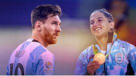 Messi a Pareto: Espero que sea la primera medalla de oro de muchas para el país