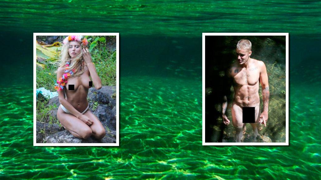 A lo Orlando Bloom: Justin Bieber, desnudo con chicas en sus vacaciones
