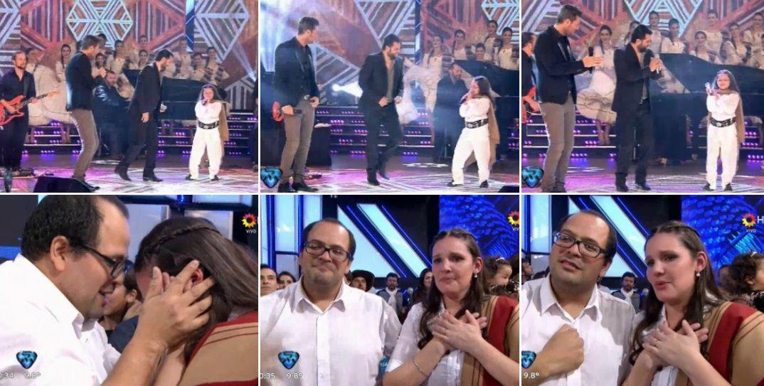 Jorge Rojas cantó con una nena en Showmatch e hizo llorar a los padres de emoción