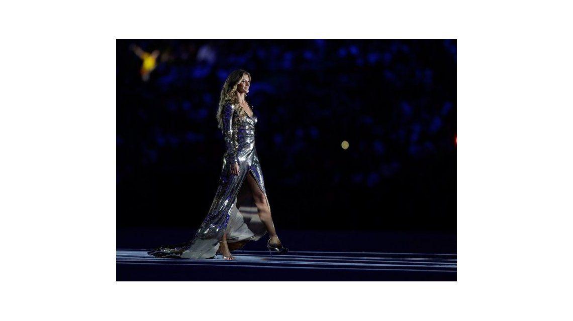 Impactante: la aparición de Gisele Bündchen en la inauguración de Río 2016