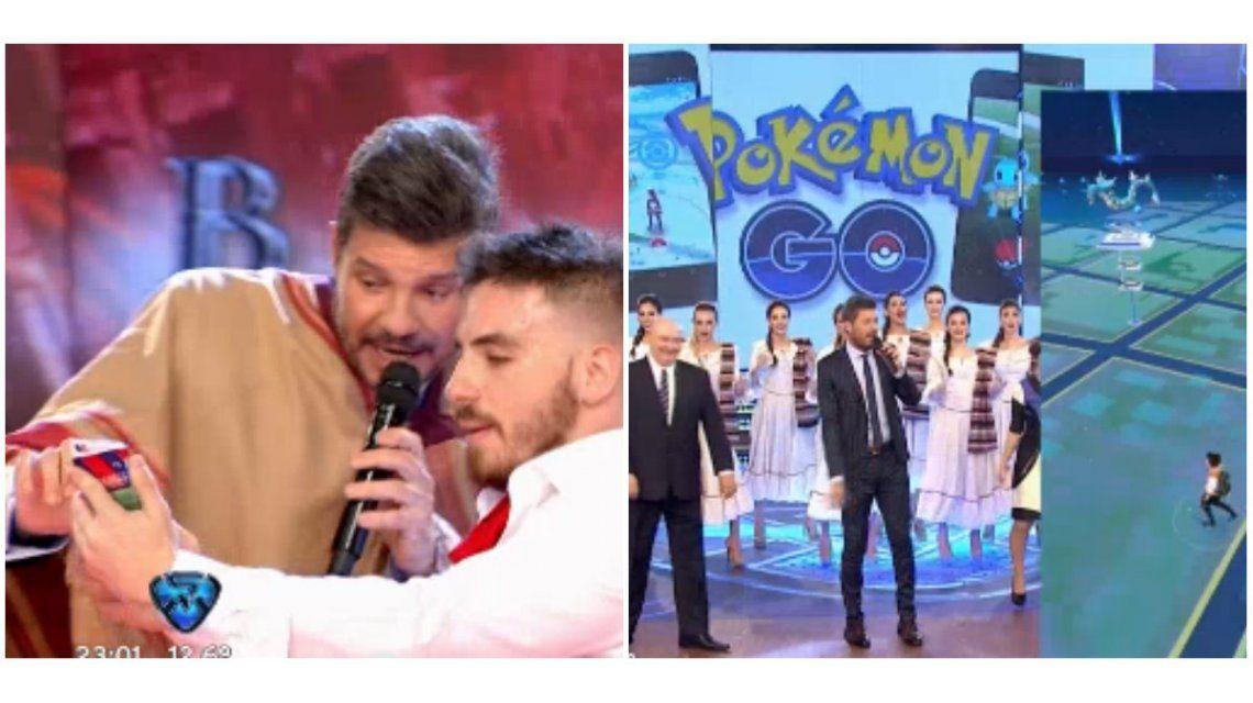 Marcelo Tinelli jugó al Pokémon Go en ShowMatch: Todos los bolud... que buscan Pokemones