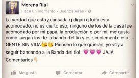 Luifa volvió a la casa y acusaron a Morena Rial de haber influido en la votación