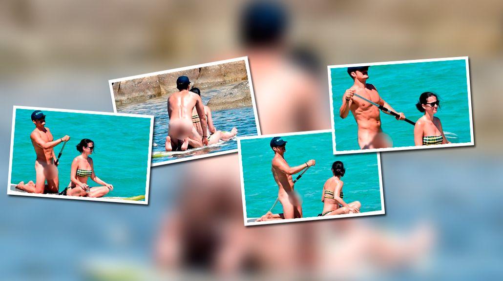 El súper desnudo de Orlando Bloom junto a Katy Perry en Italia