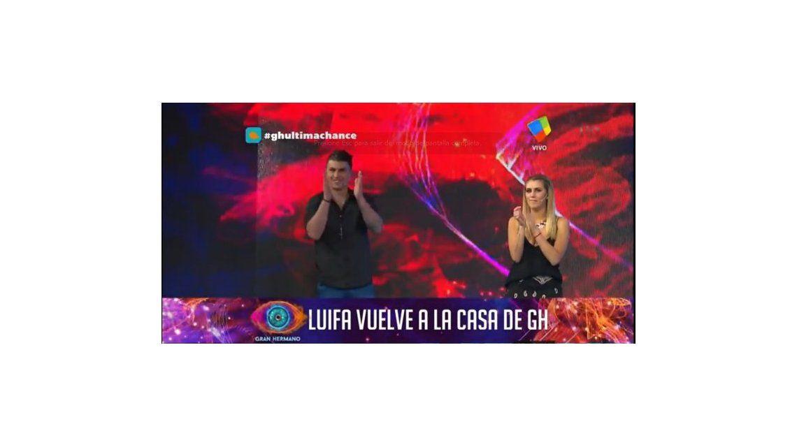Luifa volvió a la casa de GH 2016 ganando el repechaje; y Bárbara fue eliminada