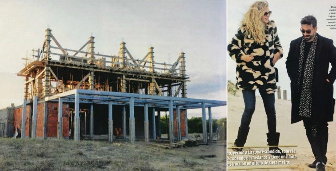 La impresionante mansión que el Pocho Lavezzi y Yanina Screpante construyen en Punta del Este