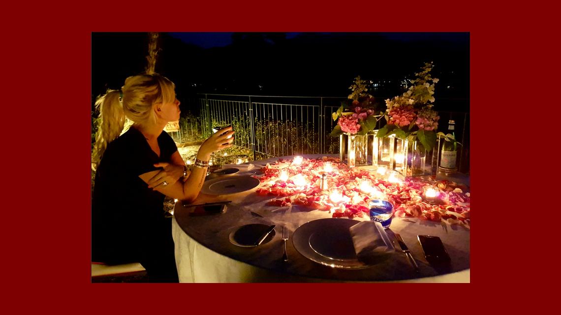 La cena millonaria que Icardi le regaló a Wanda: platos con oro, hidromasajes y romanticismo al aire libre