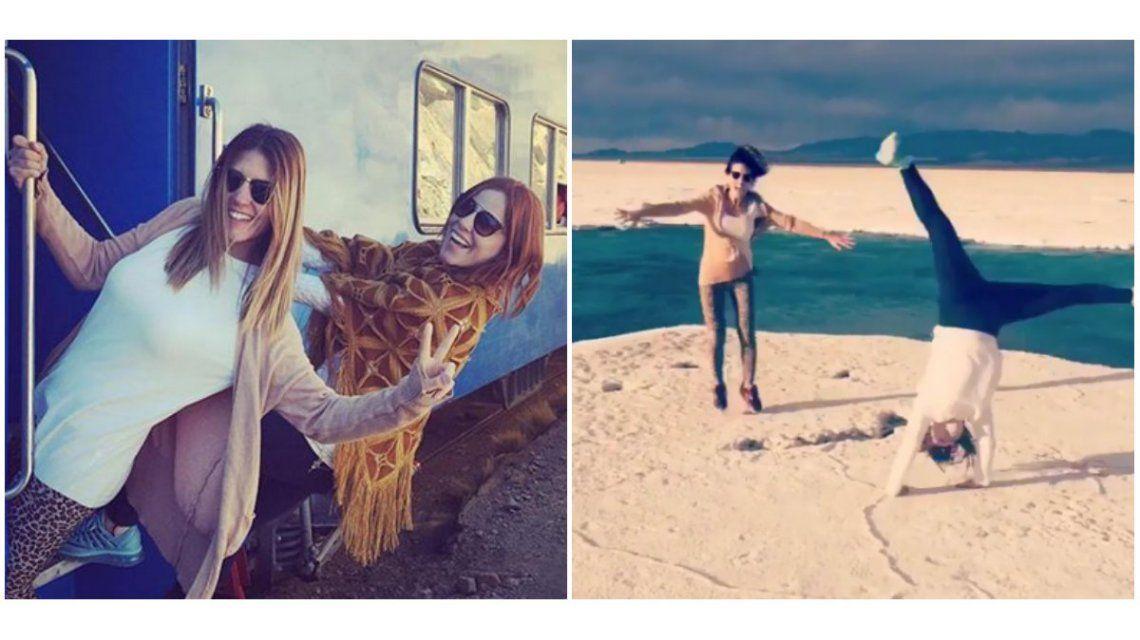 Las divertidas fotos de Agustina Kämpfer viajando con una amiga en Salta y Jujuy