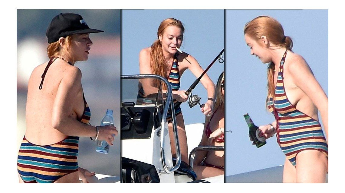 Lindsay Lohan estaría embarazada pero la encontraron bebiendo alcohol y fumando en un yate