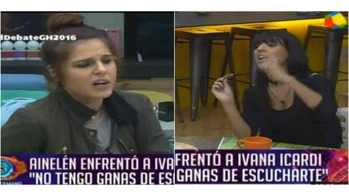 Picante pelea entre Ivana Icardi y Ainelén en Gran Hermano