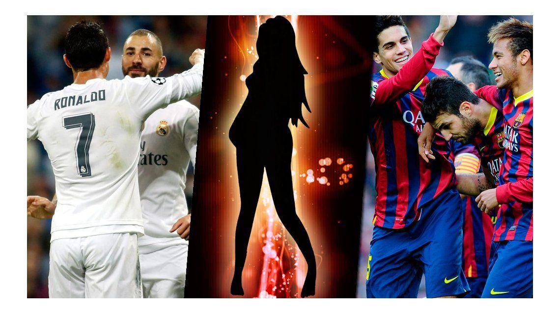 Una modelo argentina estuvo con dos jugadores del Barcelona y dos del Real Madrid