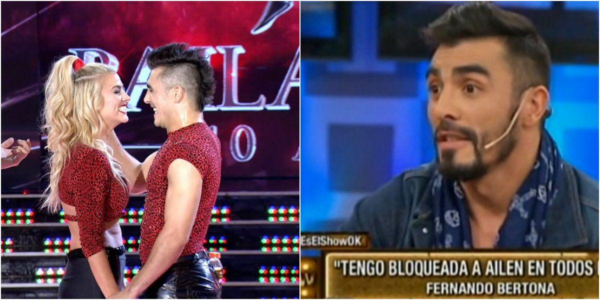 Sospechosa reacción de Fernando Bertona cuando le preguntaron por una posible infidelidad en su vínculo con Ailén Bechara