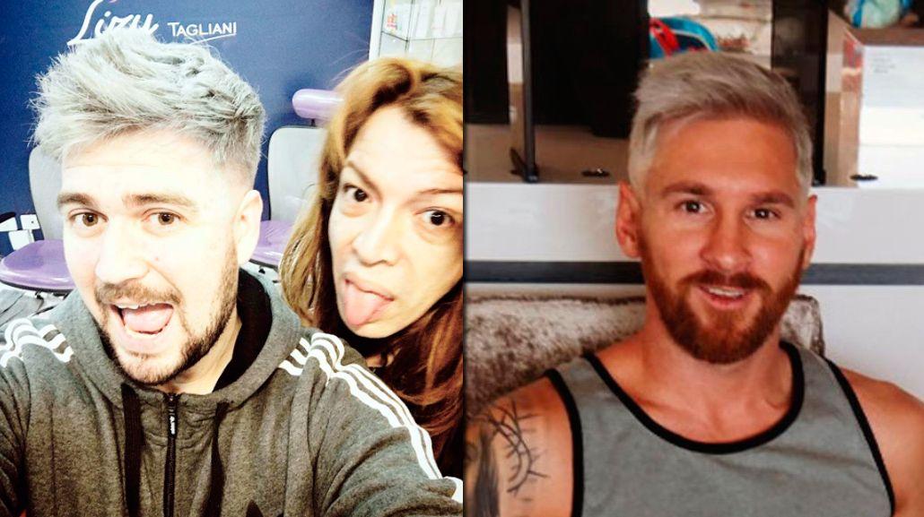 Lizy Tagliani tiñó en vivo al humorista de Santiago Del Moro con el look de Messi