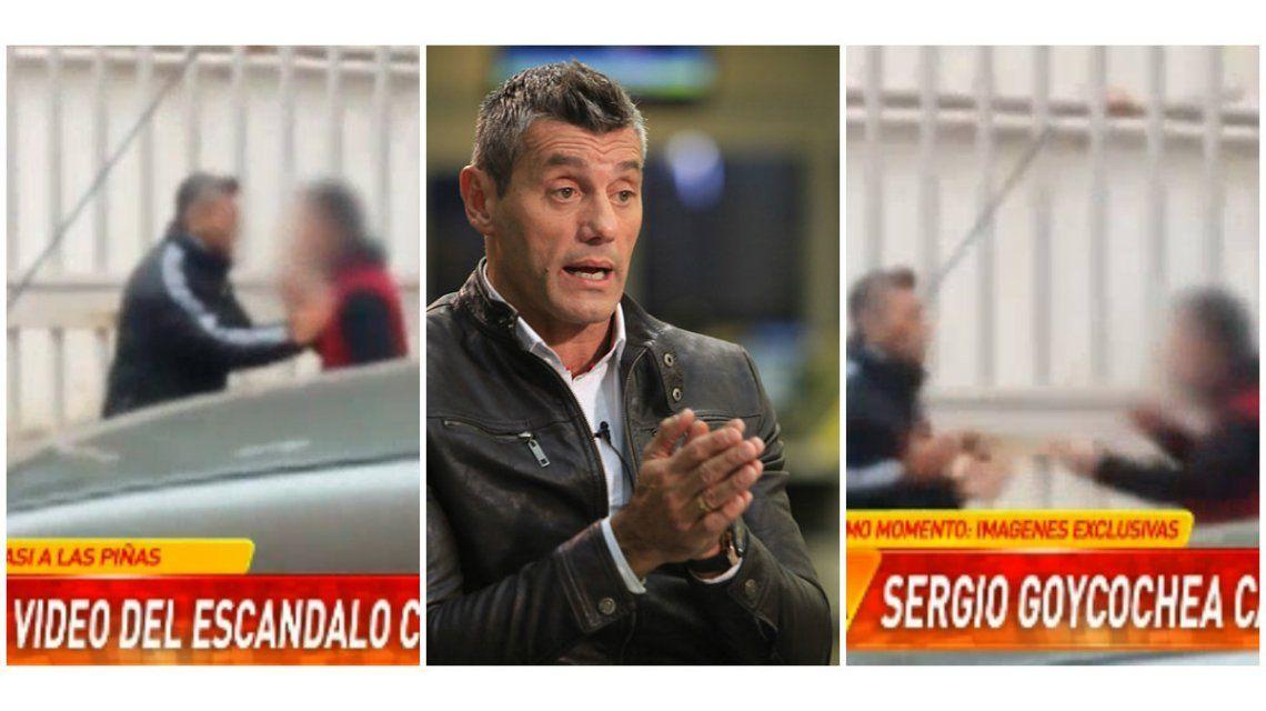 Video: un hombre intentó pegarle a Sergio Goycochea en plena calle