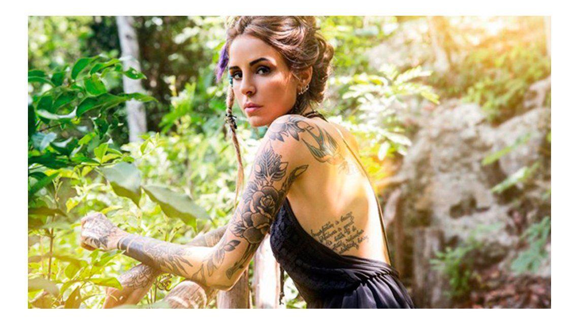 Mirá los excéntricos nuevos tatuajes de Candelaria Tinelli