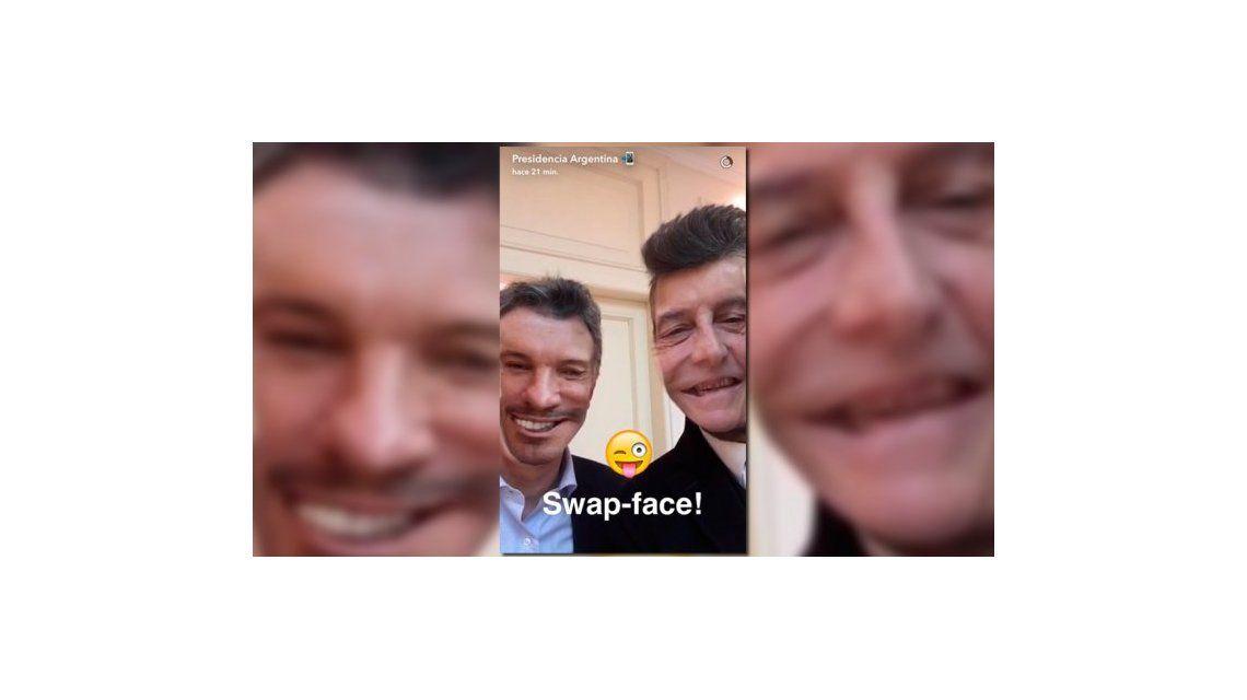 Una jodita para Marcelo: Macri, Tinelli y su Face Swap en SnapChat