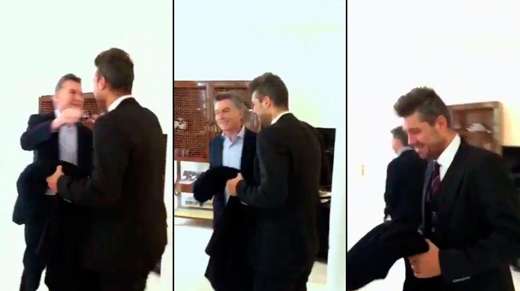 Mauricio Macri recibió a Marcelo Tinelli en Olivos, luego de la polémica con los trolls