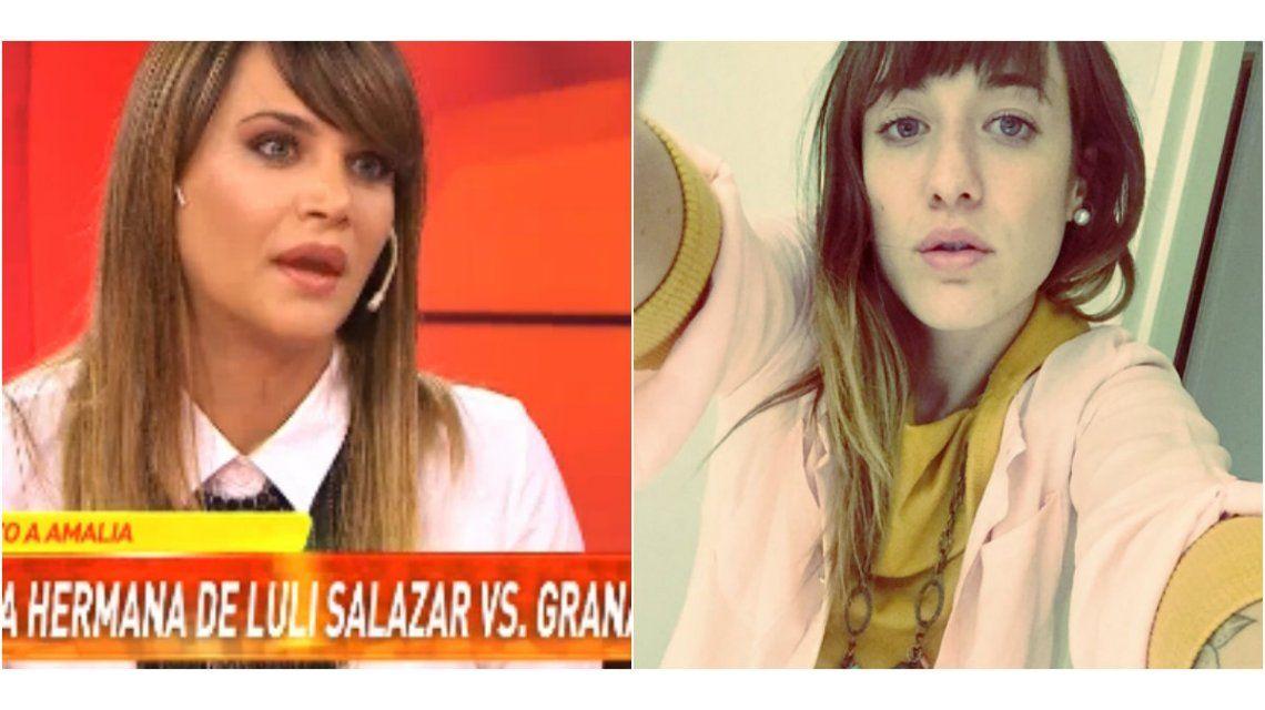 A Amalia Granata le mostraron un video de la hermana de Salazar destrozándola, y mirá su picante respuesta
