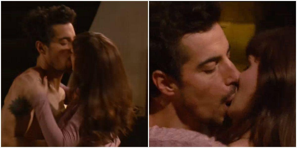 Llegó la primera parte de la escena de sexo entre Esteban Lamothe y Griselda Sicialini, y promete más...