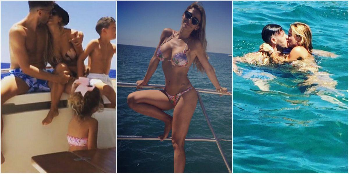Evangelina Anderson y Martín Demichelis: besos y mucho amor en el mar