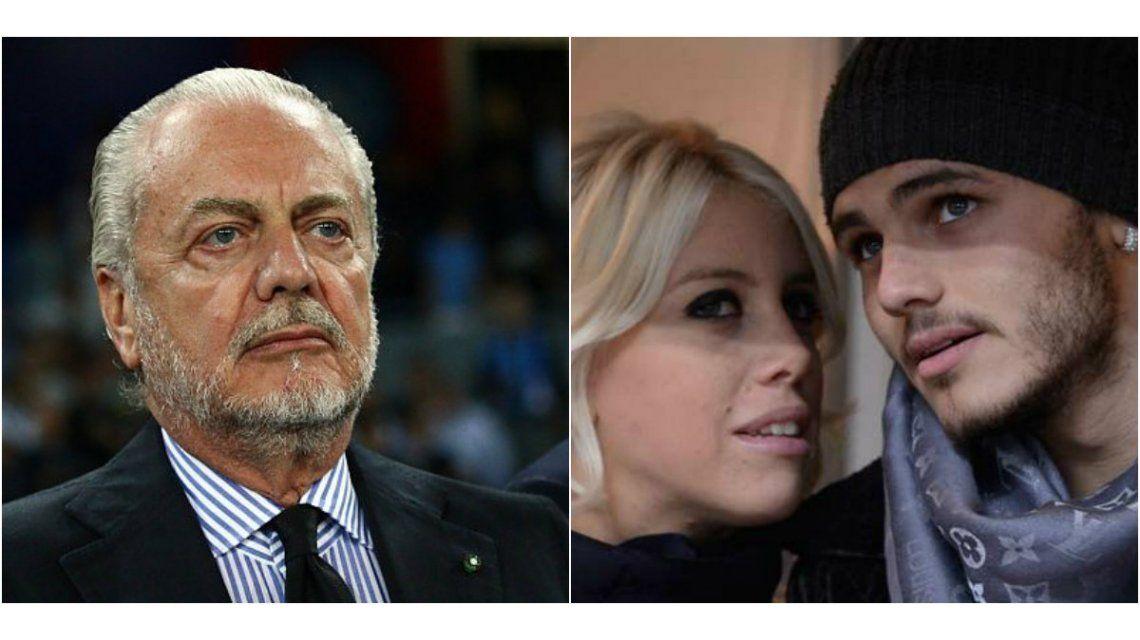 Contrato millonario para Icardi y una película para Wanda, la propuesta del presidente del Napoli