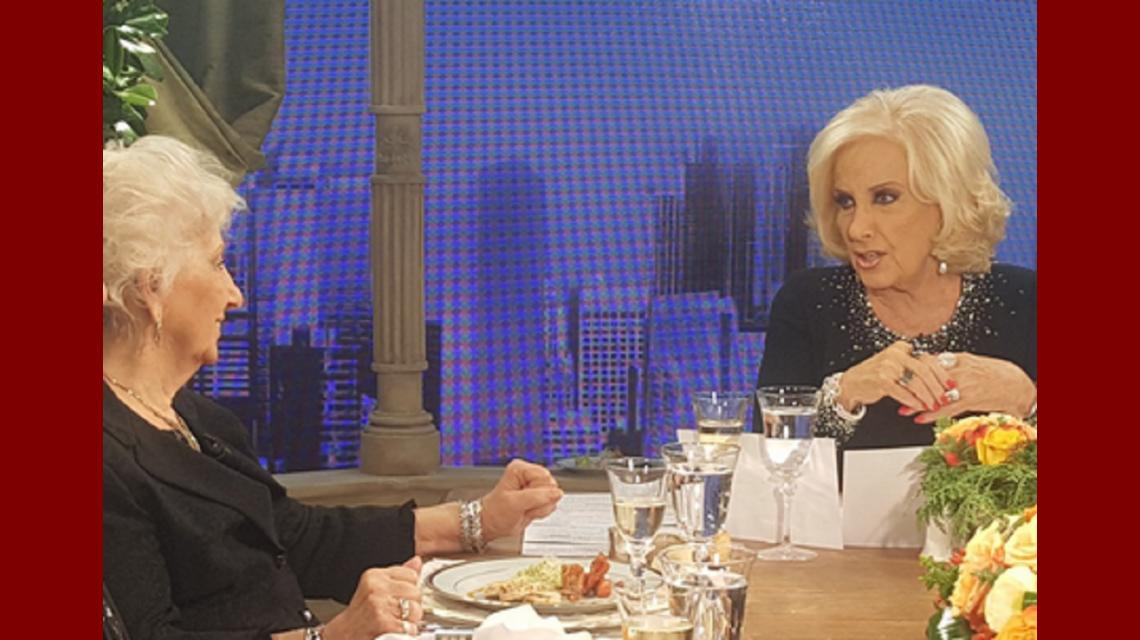 Estela de Carlotto, con Mirtha, tras el fuerte cruce: Me dolió tu comentario sobre la presidenta