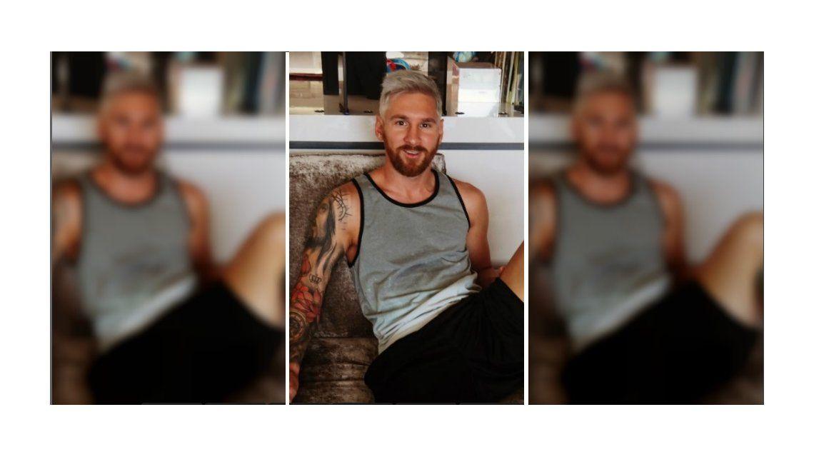 El nuevo look ¡platinado! de Lionel Messi que revolucionó las redes