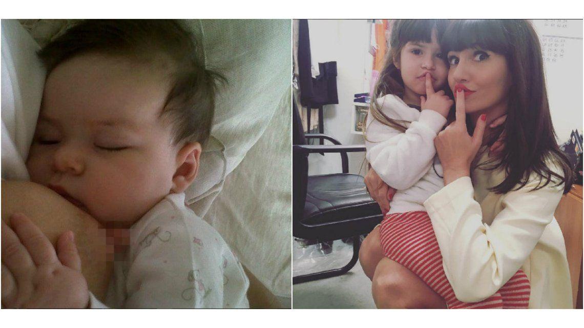 #TeteadaMasiva: Instagram censuró la foto de Griselda Siciliani amamantando a Margarita