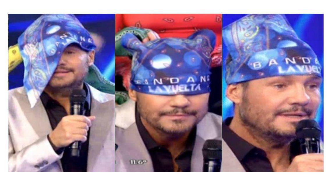 Reviví el show de Bandana y mirá qué pasó cuando Tinelli intentó ponerse el pañuelo: ¡No entra!