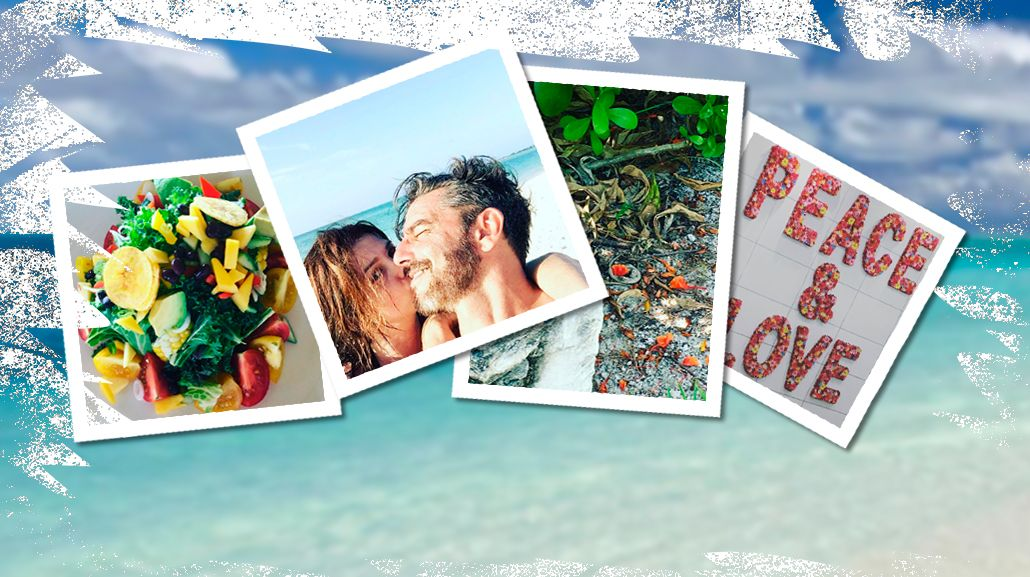 Las románticas vacaciones de Araceli González y Fabián Mazzei en un misterioso paraíso