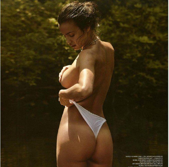 La foto en topless de Irina Shayk tomando un poco de sol