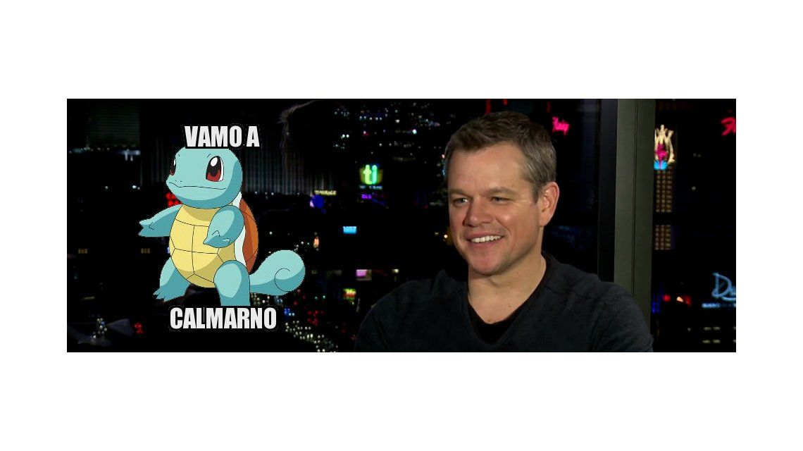 Matt Damon, como un argentino más, repite la popular frase: Vamo a calmarno