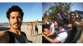 Divertida reacción del Chino Darín ante su fallida selfie en Cerdeña: In my face