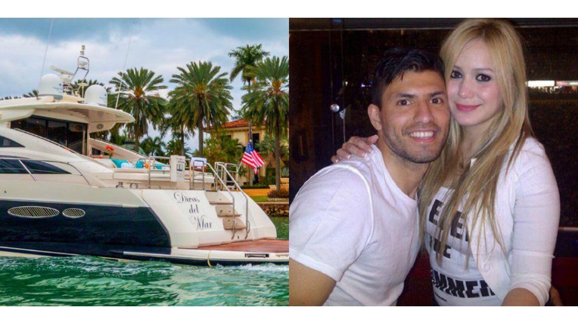 Las lujosas vacaciones del Kun Agüero, Karina la Princesita y sus familias en Miami: cumbia en un yate