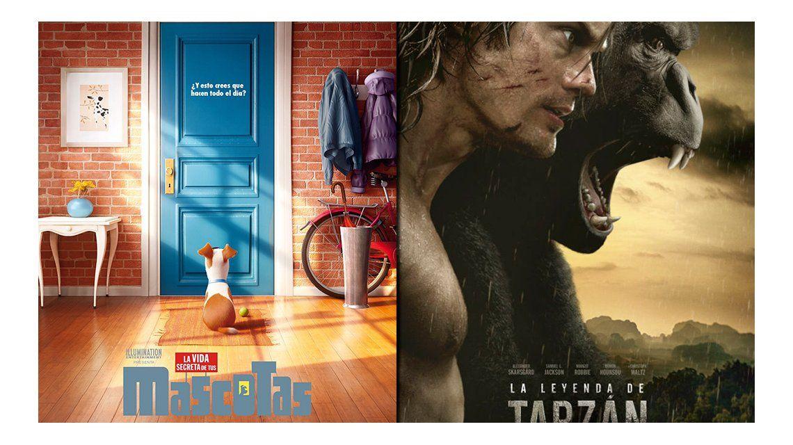 Cine: La vida secreta de las mascotas y La leyenda de Tarzán, los estrenos de esta semana