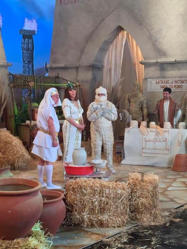 El elenco de El quilombero y Mariano Iúdica grabaron el sketch con Susana Giménez
