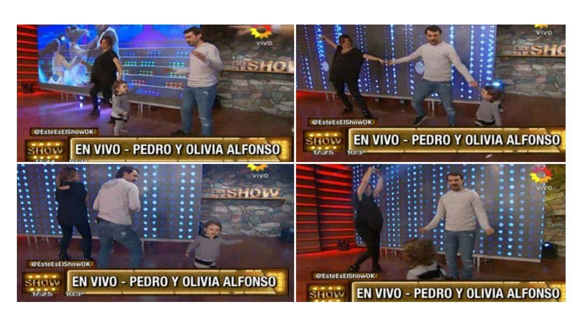Paula Chaves y Pedro Alfonso bailaron con su hija Olivia: mirá el divertido video